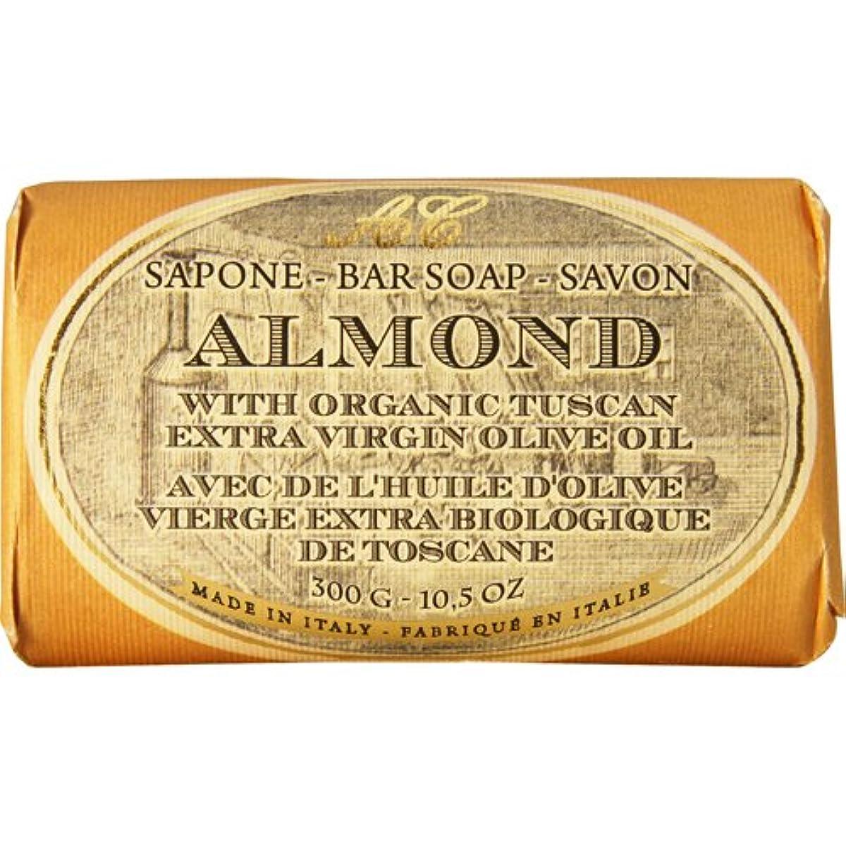 グッゲンハイム美術館晩ごはん帳面Saponerire Fissi レトロシリーズ Bar Soap バーソープ 300g Almond アーモンドオイル