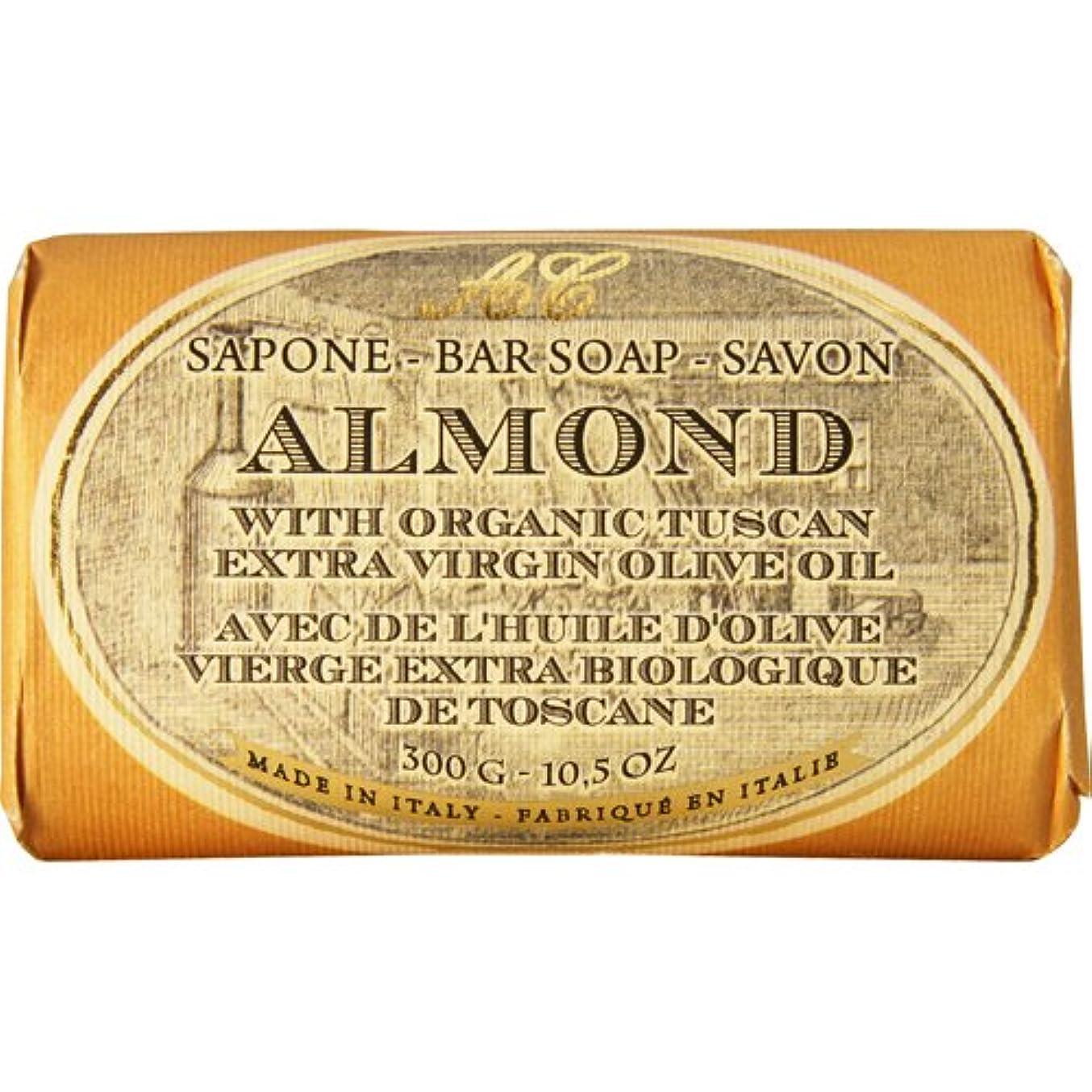 許容月曜日戦いSaponerire Fissi レトロシリーズ Bar Soap バーソープ 300g Almond アーモンドオイル