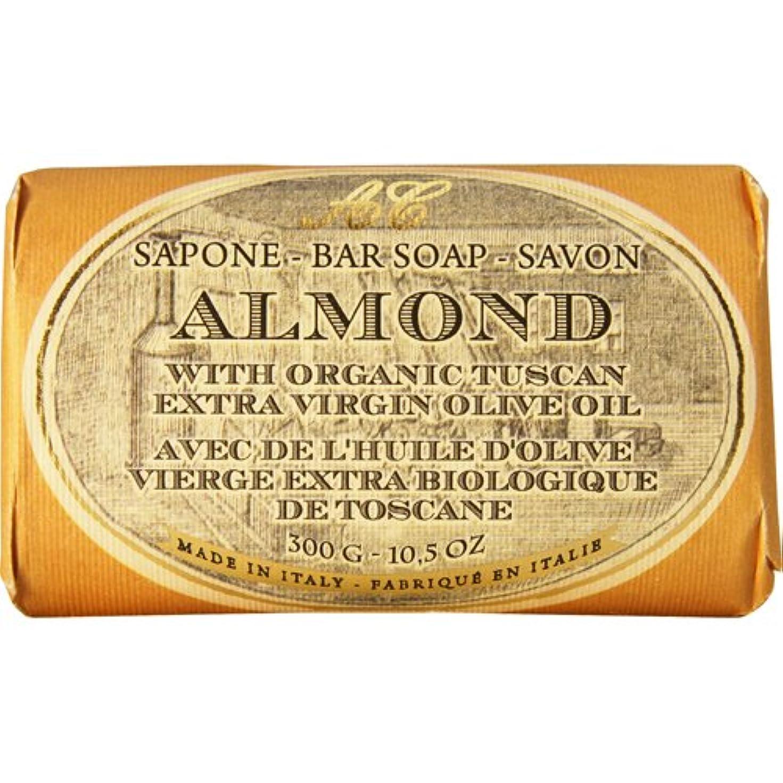 疎外する注意バーベキューSaponerire Fissi レトロシリーズ Bar Soap バーソープ 300g Almond アーモンドオイル