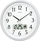CITIZEN ( シチズン ) 電波 掛け時計 ネムリーナ カレンダー M02 オフィス タイプ シルバー 4FYA02-019