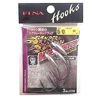 ハヤブサ(Hayabusa) シングルフック FINA ハイパートルネード ウェイテッド 5/0号 3.5g 3本 FF208