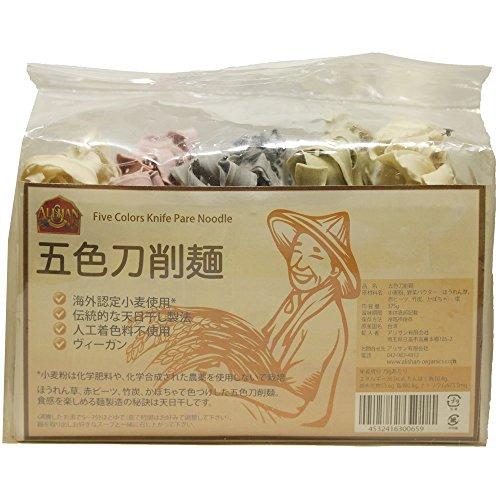 アリサン 五色刀削麺 375g