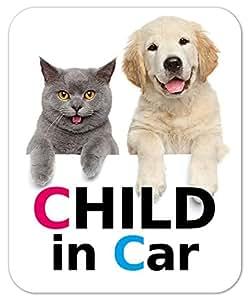 kmag 犬&猫マグネット マグネット Child in Car