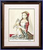 藤田嗣治 レオナール・フジタ 猫を抱いた頭巾の少女 リトグラフ 複製版画 限定300部