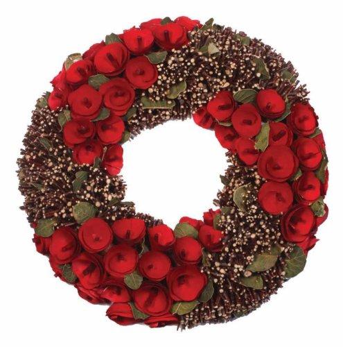 [해외]내츄럴리스 플라워 &  브랜치 30cm/Natural lease flower & branch 30 cm