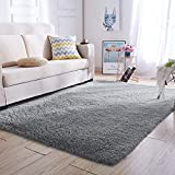 Super Soft Kids Room Nursery Rug 5' x 8' Grey Area Rug for Bedroom Decor Living Room Floor Carpets Fur Mat by VaryCarry