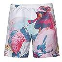 Moseアートプリントビーチショーツメンズのファッションメンズ夏カジュアルプラスサイズ3dプリントビーチ快適ショートパンツ X-Large