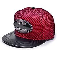 REINDEAR Batman Metal Logo Baseball Cap w/Black Mesh Hip-hop Snapback Hat US Seller