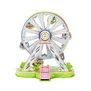 Newisland まぼろしの観覧車 3D立体パズル オルゴール 多彩なLEDライト付き知恵玩具 プレゼント