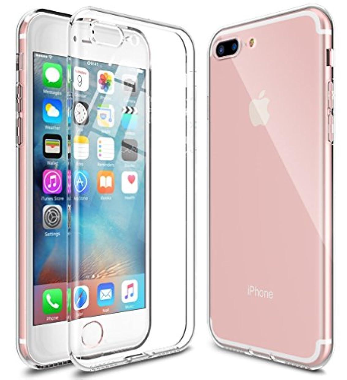 描写蒸発する微生物[WOEXET] iPhone 7 Plus ケース iPhone 8 Plus ケース TPU 極薄軽量 透明 滑り防止 指紋防止 アイフォン7プラス カバー アイフォン8プラス カバー ソフト クリア