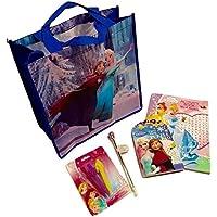 誕生日for Kid 's ;ディズニープリンセスArts and Crafts ; Word Search andアクティビティBK、パズルパッド、プリンセスcharacter-shapedクレヨン、ペン、ノベルティGemトートバッグ; 5-pc