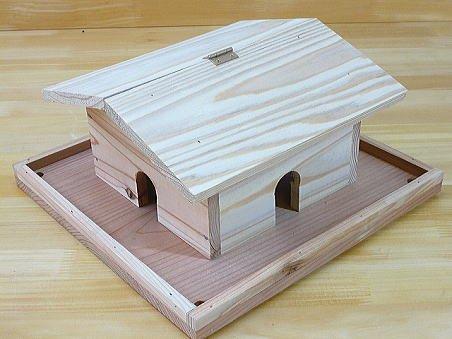 夏休み 工作キット 野鳥用餌台(バードフィーダー)家型(完成品)