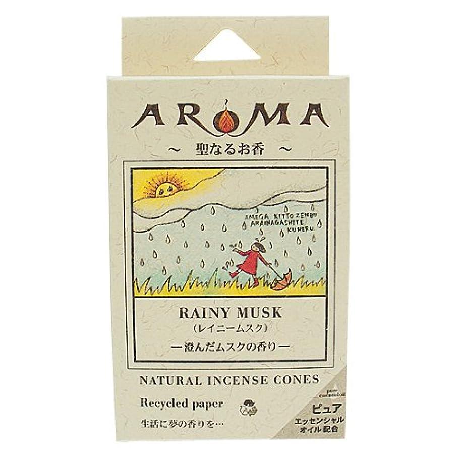 不条理葉合併アロマ香 レイニームスク 16粒(コーンタイプインセンス 1粒の燃焼時間約20分 澄んだムスクの香り)