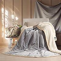 寝具 ぬいぐるみ フランネル 毛布 3 層 フリース 毛布 スーパー ソフト 加重 暖かい 毛布 ソファ ベッド-D 150x200cm