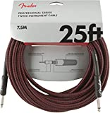 Fender シールドケーブル Professional Series Instrument Cable, 25', Red Tweed
