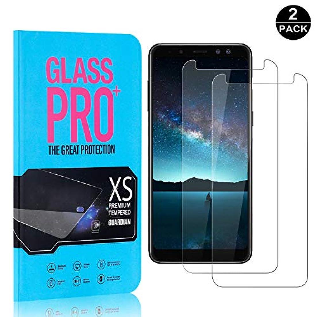 特権鷲まともな【2枚セット】 Galaxy A8 2018 超薄 フィルム CUNUS Samsung Galaxy A8 2018 専用設計 強化ガラスフィルム 高透明度で 気泡防止 飛散防止 硬度9H 耐衝撃 超薄0.26mm 液晶保護...