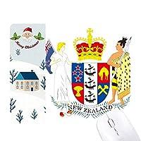 ニュージーランドの国章 サンタクロース家屋ゴムのマウスパッド