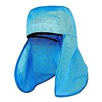HW GLOBAL 2ピース 防災用ヘルメット 日よけタレ たれ インナー ハード帽子汗止め 安全性 ハットクールカバーエアメッシュ クーリングパッド スウェットバンド カバー付ヘッドキャップ/ 四季節用 頭保護内皮 首や顔 プロテクター 保護 ひんやり 夏 熱中症 予防 グッズ 安全 日光遮断 エアメッシュシェード UVプロテクション ネック フェイス 保護 マスク ボディー 冷感 カバー付ヘッドキャップ Helmet Hard Hat Sun Shield Cooling [並行輸入品]