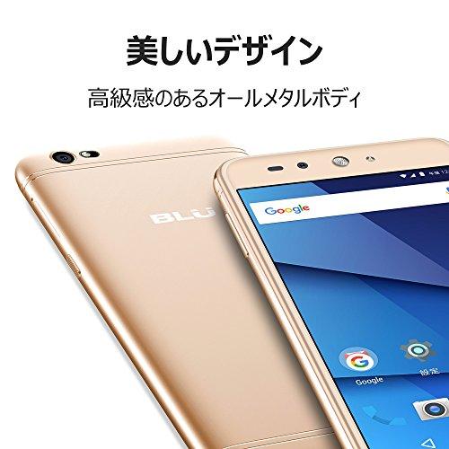 【Amazon.co.jp 限定】 BLU(ブルー)GRAND X LTE SIMフリースマートフォン ゴールド  【日本正規代理店品】 G0010JJ/GOL-38