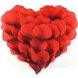 2000枚 花びら cnomg フラワーシャワー 薔薇の造花 プロポーズ 結婚式 誕生日 お祝い 演出にローズ (赤)