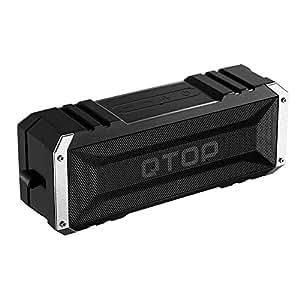 Qtop Bluetoothスピーカー 20W出力 デュアルドライバー/IPX4防水防塵認証/最大25時間持続/内蔵マイク搭載