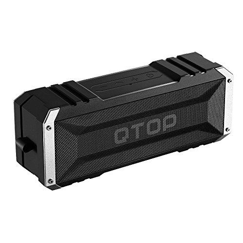 Qtop Bluetoothスピーカー Bluetooth 4.0 20W出力 iPhone, iPad, Samsung, Nexus, HTCなど対応-ブラック 【IPX4防水&防塵認証/最大25時間持続/18ヶ月保証】