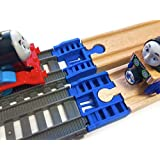 TrainLab Track Adapters Compatible with Trackmaster (2014+) to Wooden Railway Train Tracks