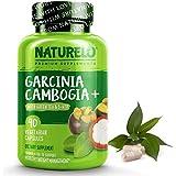 NATURELO Garcinia Cambogia Weight Loss Management - 100% Natural Supplement with Pure Garcinia Cambogia, Ketones, Forskolin, Green Tea & Guarana - Thermogenic Fat Burner - 90 Vegan Capsules