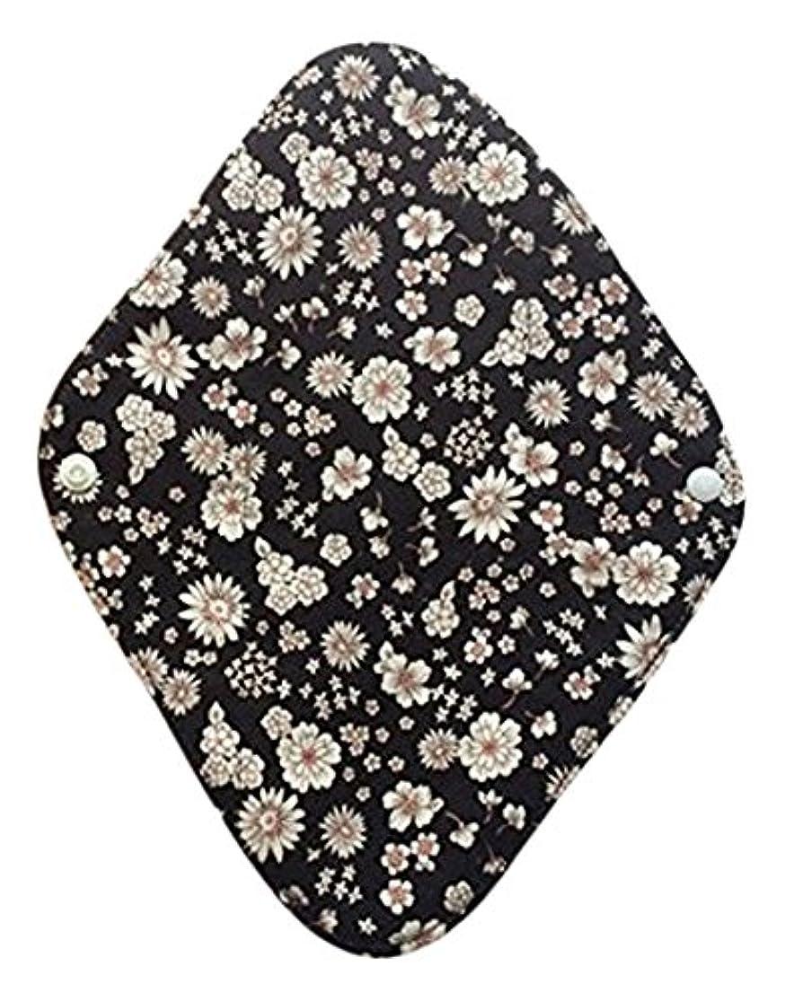 華布のオーガニックコットンの布ナプキンホルダー (約17×約23×約0.3cm) ボタニカルブラック