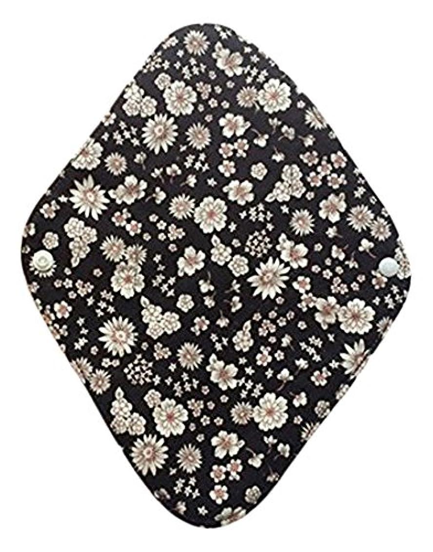 豊かなポップオペラ華布のオーガニックコットンの布ナプキンホルダー (約17×約23×約0.3cm) ボタニカルブラック