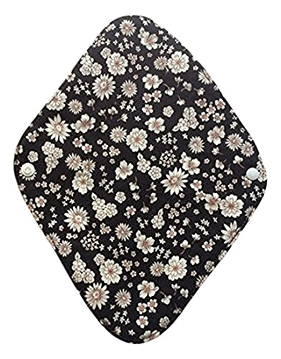 攻撃おめでとう待って華布のオーガニックコットンの布ナプキンホルダー (約17×約23×約0.3cm) ボタニカルブラック