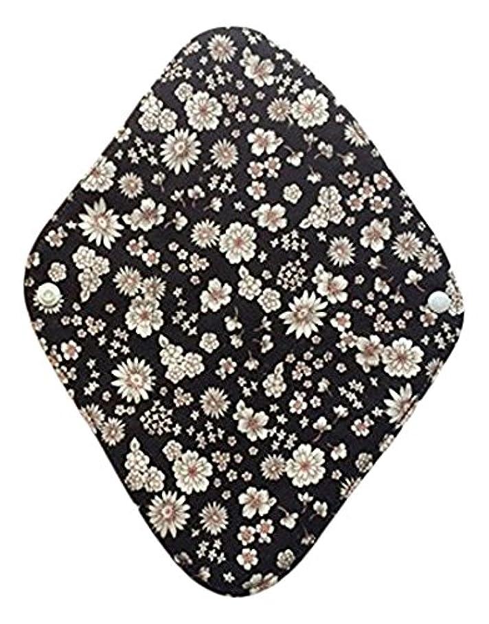 驚いたことに揮発性最愛の華布のオーガニックコットンの布ナプキンホルダー (約17×約23×約0.3cm) ボタニカルブラック