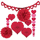 Amscan 240184 Valentine's Day Paper Kit party-decorations One Size Red