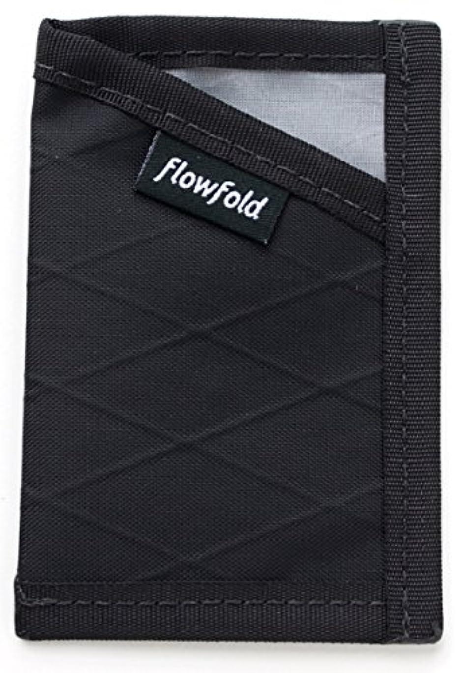 風が強い役割ロケーションフローフォールド(Flowfold) アウトドア 財布 カードホルダーワレット ミニマリスト リミテッド ジェットブラック FFTJ021000