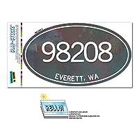 98208 エベレット, WA - 金属 Design - 楕円形郵便番号ステッカー