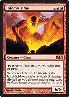 MTG 英語版 M11-EN146 Inferno Titan 業火のタイタン (赤/神話レア)