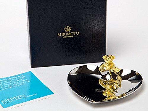 MIKIMOTOミキモトインターナショナル 真珠の小粒付ゴールドベアー&シルバーハートトレー