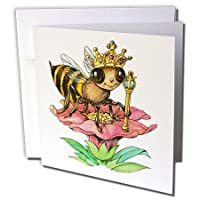 昆虫 – Bee The Queen – グリーティングカード Set of 12 Greeting Cards