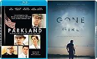 Gone Girl & Parkland 2 Pack Blu Ray Mystery Thriller Movie Set Academy Award Winner