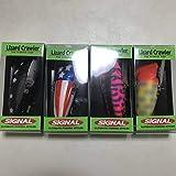 新品シグナルSIGNALリザードクローラー カラー:#03ブラックスター, 04ピンクタイガー, 05アメリカン, 10オレンジヘッド 4色セット