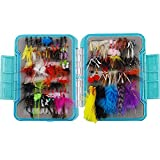 94pcs /ボックスAssorted Dry Fly Fishing lures-dry Flies Wets Flyフライ釣りフックルアーセットwithバタフライ昆虫Fake NymphsフローティングFliesフックfor Bass Salmon TroutグレイリングPanfish Fishing Tackle