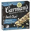 Carman's Muesli Bar Dark Choc Blueberry Superfood, 6-Pack…