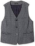 [ヌーヴォ] ベスト フォーマル スーツ オフィス服 事務服 仕事服 チェック柄 FV36063 ネイビーチェック 日本 23 (日本サイズ4L相当)