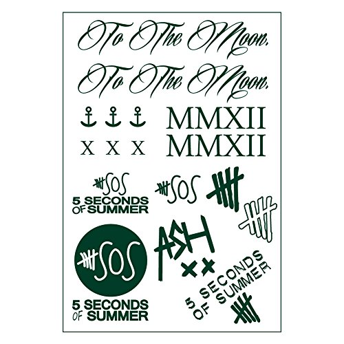 5sos 5 Seconds of Summer Tattoo Sticker タトゥー シール OKSTAR