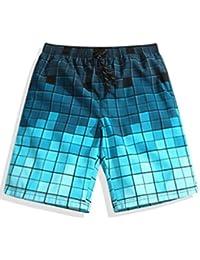 ININUK  メンズ サーフパンツ ショーツ 水着 海水パンツ シンプル 海パン ゴムウエスト サーフトランクス 通気速乾 防水 速乾 ゆったり ハーフパンツ カジュアル