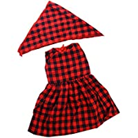 Lovoski  人形 ファッション 袖なし スカート ドレス ヘッドバンド付き 18インチアメリカ人形適用 装飾