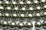 【 福縁閣 】【 パイライト 】 12mm 1連(約38cm)_R573/A5-6 天然石 パワーストーン ビーズ