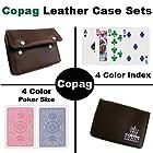 COPAG(コパッグ) 4カラー プラスチックトランプ レッド/ブルー ポーカーサイズ レギュラーインデックス レザーケースセット