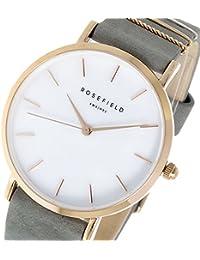 [ローズフィールド]Rosefield レディース WEST VILLAGE 33ミリ ローズゴールド シェル ダークグレー ヌバックレザー WEGR-W75 腕時計 [並行輸入品]