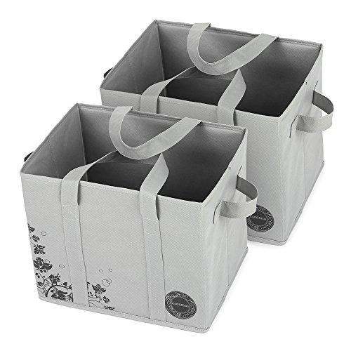 Esonmus 収納バスケット 収納ボックス おもちゃ箱 収納ケース 折りたたみ式 不織布 33×28×25.4cm